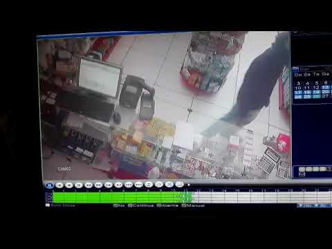 Part. 3 - Câmeras de segurança flagram ação de criminosos em farmácia, em Mineiros (GO)