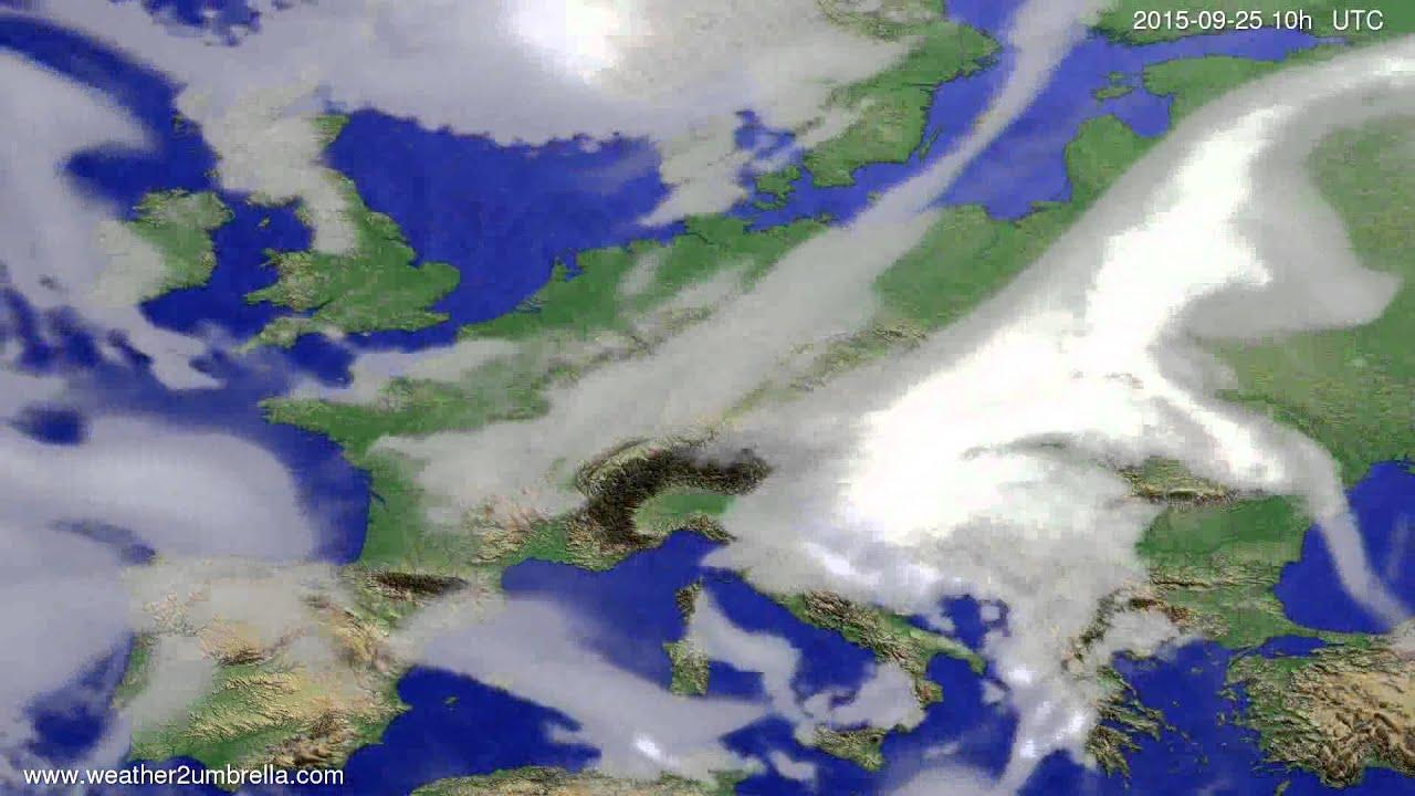 Cloud forecast Europe 2015-09-23