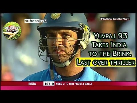 West Indies vs India! Yuvraj 93 takes India to the brink of a famous win