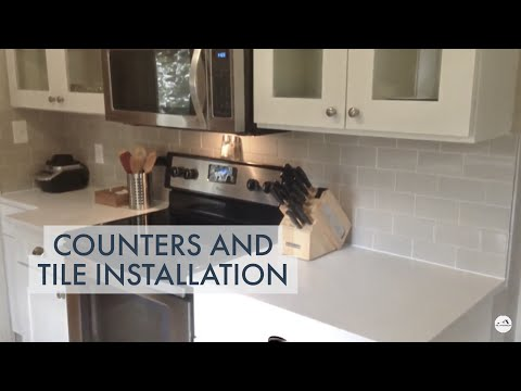 DIY Kitchen Renovation 2 -- Counters and Subway Tile Installed!