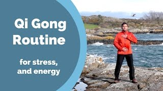 Video Qi Gong Routine for Stress, Anxiety, and Energy w/ Jeff Chand MP3, 3GP, MP4, WEBM, AVI, FLV Mei 2019