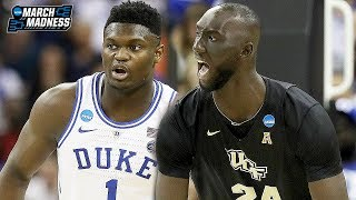 UCF vs Duke Game Highlights (Zion Williamson vs Tacko Fall) - March 24, 2019 | 2019 March Madness