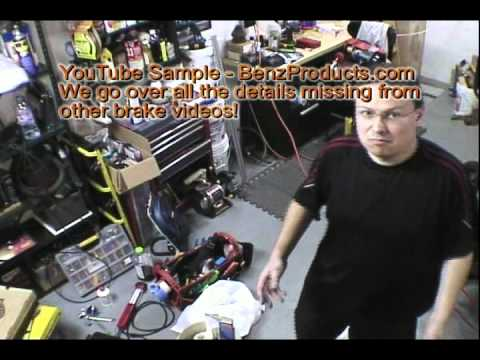 Mercedes Benz Brake Repair Service and Caliper Rebuilding DVD BenzProducts.com