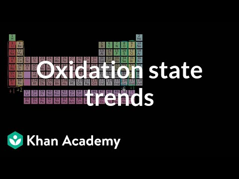 Oxidation State Trends In Periodic Table Video Khan Academy