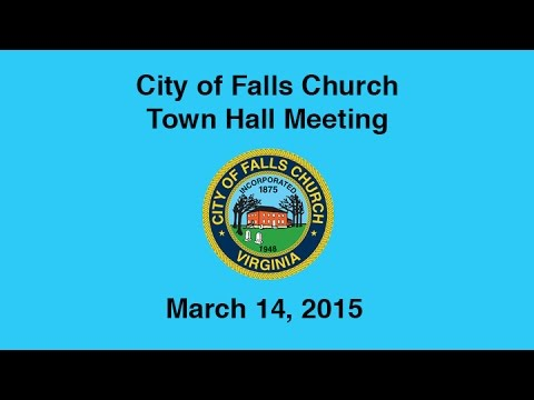 Town Hall Meeting #1, March 14, 2015