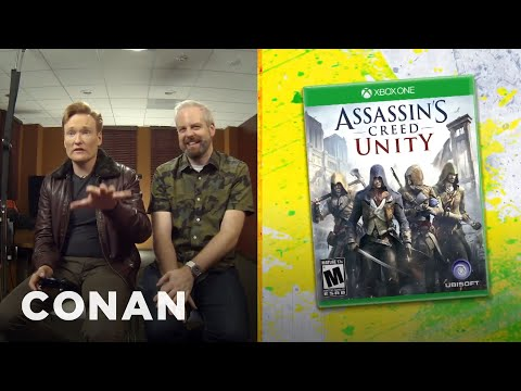 Conan O  Brien Plays and Reviews  Assassin  s Creed Unity  on His  Clueless Gamer