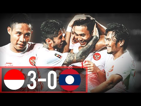Indonesia VS Laos (3-0) Highlights - Asian Games 2018 (Pertama Kali Nonton Bola Indonesia)