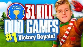 WORLDS MOST KILLS IN DUOS  - 31 Kills (Fortnite Battle Royale)