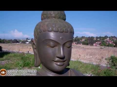 SOLD Stone Meditating Buddha Statue 38