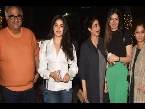 In Graphics: Sridevi and Family snapped post dinner in Bandra