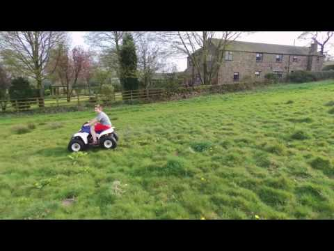 Suzuki lt80 chased by parrot bebop 2 drone