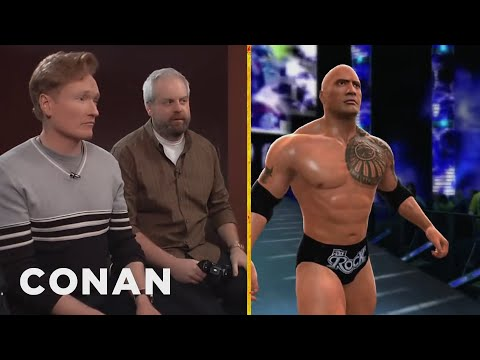 video review - CONAN Highlight: You might not think Conan is a wrestling natural, but wait til you see his custom