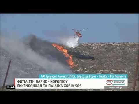 Φωτιά στη Βάρης – Κορωπίου | Εκκενώθηκαν τα παιδικά χωριά SOS | 10/07/2020 | ΕΡΤ