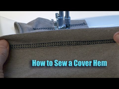 Baby Lock Ovation Serger Manual:  How to Sew a Cover Hem