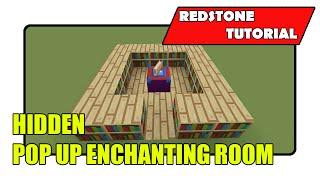 Hidden Flush Pop Up Enchantment Room [Enchantment Table Input] (Minecraft Xbox TU21/PlayStation CU8)