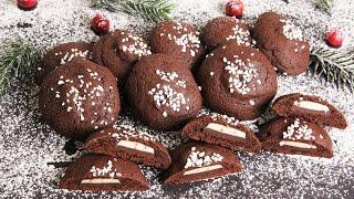 Mint Chocolate Stuffed Chocolate Cookies | Episode 1125