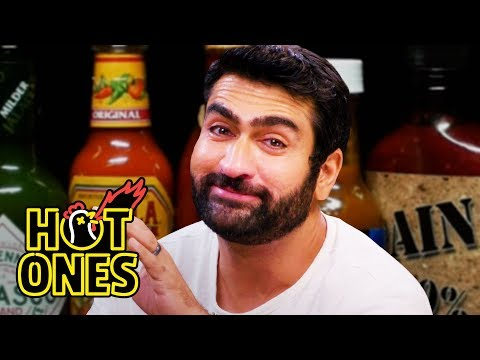 Download Kumail Nanjiani Sweats Intensely While Eating Spicy Wings | Hot Ones HD Mp4 3GP Video and MP3