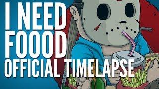 """I Need Foooooooood"" Official T-Shirt Timelapse"