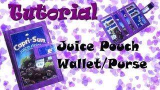 How To Make A Juice Pouch Purse/Wallet - YouTube