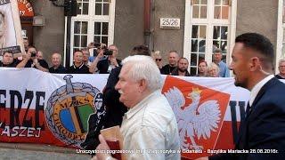 Okrzyki ONR do Wałęsy – Śmierć wrogom ojczyzny!