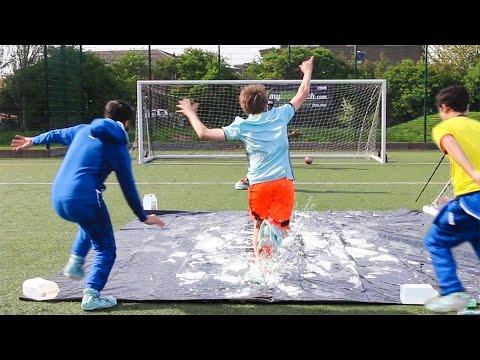 SLIP 'N' SLIDE FOOTBALL CHALLENGE