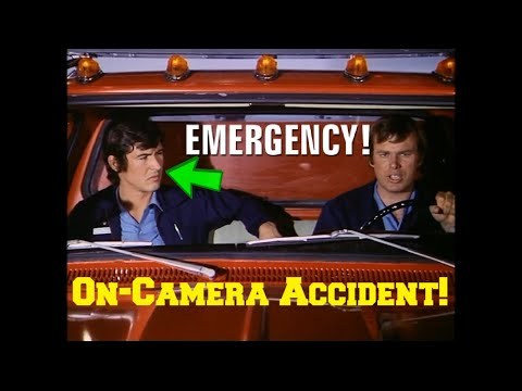"""John Gage's (Randy Mantooth) Accident on the Set of the 70's TV Show """"Emergency!"""""""