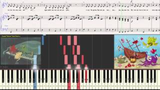 Буги-Вуги для осьминога - Детская песенка (Ноты для фортепиано) (piano cover)