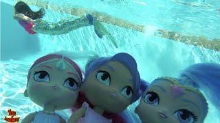 Shimmer and Shine Magic Mermaids Bubble Blastin' Playdate with Nila | Toys Academy