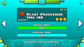 Geometry Dash - Blast Processing (FULL VER) All Coin / ♬ Partition