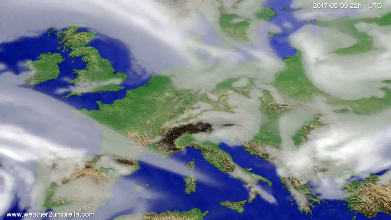 Cloud forecast Europe 2017-05-07
