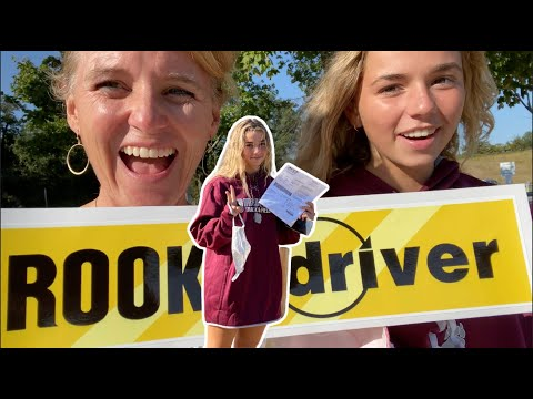 KATIE GETS HER DRIVER'S PERMIT!! **first time driving**