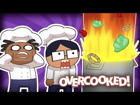 Kitchen Cooking Disaster! | Overcooked E 1