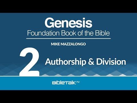 Free Study on the Book of Genesis - #2 - Who Wrote Genesis?