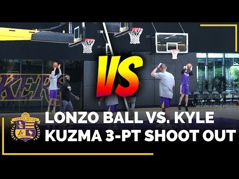Video: Lonzo Ball vs. Kyle Kuzma 3-Point Shoot Around