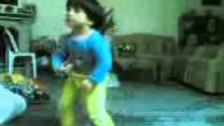 رقص زیبای دختر بابا
