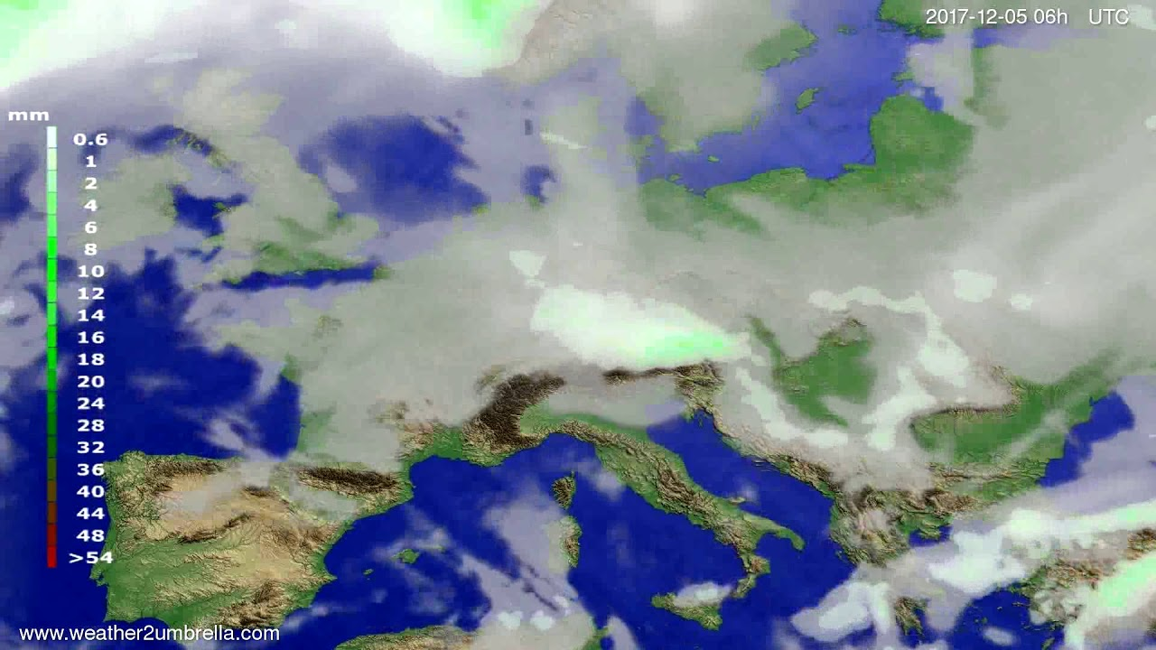Precipitation forecast Europe 2017-12-02