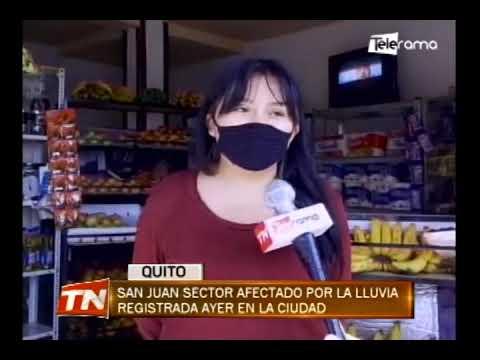 San Juan Sector afectado por la lluvia registrada ayer en la ciudad