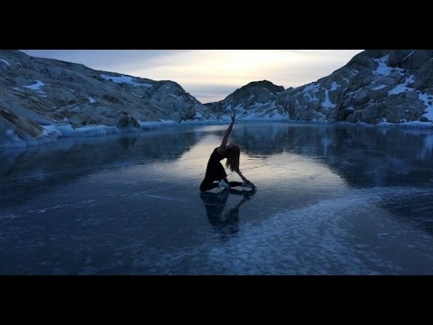 No one had ever skated on this frozen mountain lake. Until now.