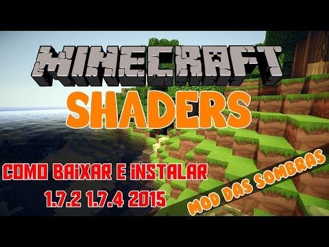 Como Baixar e Instalar Mod das sombras (Shaders) no Minecraft 1.7.2 - 1.7.4  2017 (видео)
