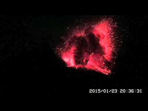 explosive - January 23, 2015: An explosive nighttime eruption of Sakurajima Volcano in Japan was captured by the webcams monitoring this active region of South Japan. 地震火山噴火溶岩日本 ...