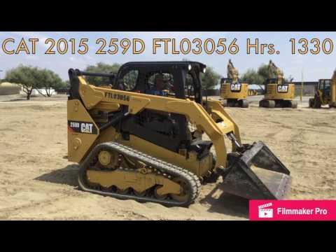 CATERPILLAR SKID STEER LOADERS 259D equipment video CEQhzH8peDQ