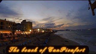 Zeitrafferfilm: Der Strand von Can Picafort