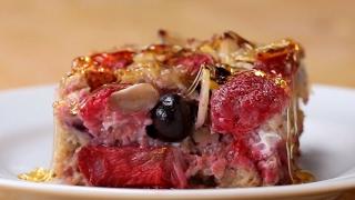 Berry Almond Oatmeal Bake by Tasty