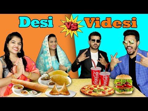Desi Vs Videsi Eating Challenge | देसी vs विदेसी ईटिंग चैलेंज | Hungry Birds Food Eating Competition