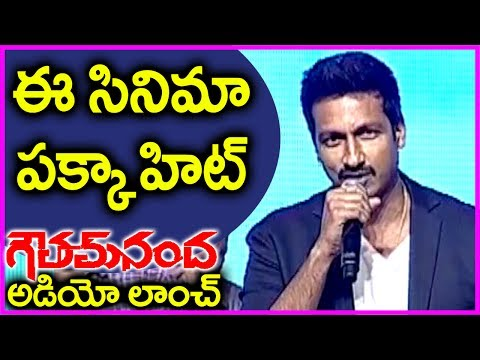 Gopichand Extraordinary Speech @ Gautam Nanda Movie Audio Launch | Catherine Tresa