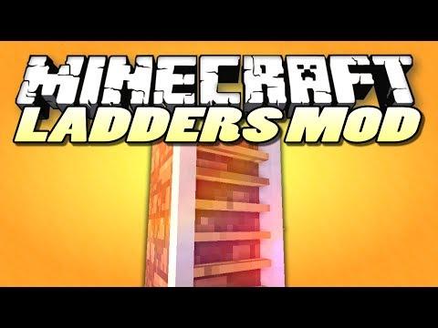 Minecraft Mods | LADDERS MOD (Rope Ladders & More) | Minecraft (Mod Showcase)
