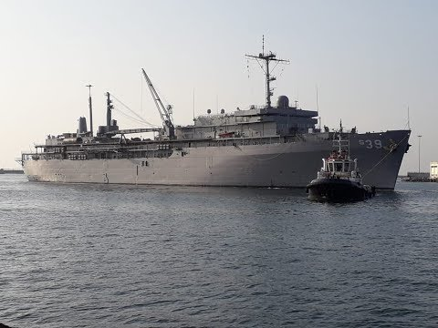 USS Emory A Land Navy Submarine Support Ship arrives at Visakhapatnam,Vizagvision...
