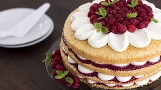 Raspberry Vanilla Cake Recipe by Home Cooking Adventure