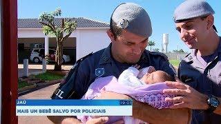Mãe conta como bebê engasgou com leite e foi salva por policiais em Jaú