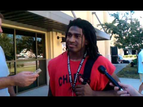 UCF defensive back Kemal Ishmael 10-11-2010 video.